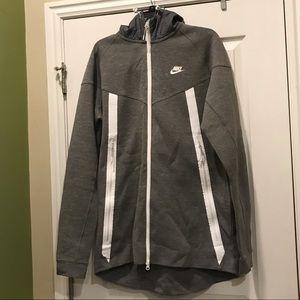 Large Tall Grey Nike Tech Fleece Bonded Windrunner